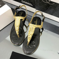 Wholesale braided wedding dress for sale - 2019 summer new high quality women s fashion flat sandals leather braided rope sandals leather casual sandals ladies outdoor high heels
