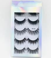 eyelashes prices بالجملة-2019 5 أزواج الرموش الصناعية مع مربع المجسم، 5 أزواج الرموش مع ورقة مربع، 5 أزواج مختلطة رخيصة الثمن كاذبة جلدة 5D01-5D06