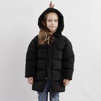 casaco de inverno novo para menina venda por atacado-Dinossauro 2-6T Crianças jaquetas de 2018 Novo Design Miúdos bonitos 90% pato branco para baixo Coats 2 Cores Rapazes Meninas Engrossar Quente Casacos de inverno