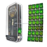 messingzahlen großhandel-Hologramm-Aufkleber Fälschungssicheres Kennzeichen für Schlagring Vape-Patronen Holographic Green Label mit verschiedenen Nummern auf Lager