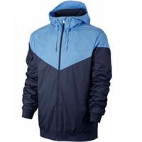hots sport men toptan satış-Erkekler Marka Koşu Ceket Ücretsiz Kargo WINDBREAKER Sıcak Satış Spor Kapşonlu Palto Erkek Sportwears için Sonbahar İnce ceketler