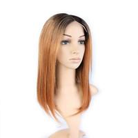 pelucas virutas chinas del cordón del pelo al por mayor-Miel azul, cabello virgen remy, frente de encaje, pelucas llenas de encaje para el cabello chino de las mujeres, M012 liso, para citas, para bodas