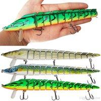 Wholesale lure pieces resale online - 10 Pieces Minnow Fishing Lure Artificial Bait Swim Bait Jointed Bait Hook Crankbait Wobbler Fishing Tackle