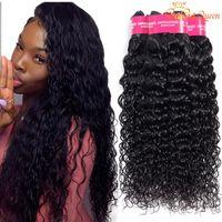 Wholesale wavy weft human hair extensions resale online - Gagaqueen Brazilian Water wave Hair Bundles a Unprocessed Brazilian Wet And Wavy Vrigin Human Hair Extensions