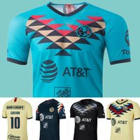 Wholesale club america kids resale online - 20 LIGA MX Club America Third Blue Soccer Jerseys C DOMINGUEZ O PERALTA Men Kids football shirt kit uniforms