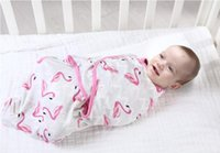 ingrosso avvolge la coperta di cotone del bambino-Spedizione gratuita hot baby swaddle coperta neonato bozzolo avvolgere cotone fasciatoio busta del bambino sacco a pelo biancheria da letto