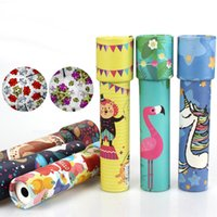 Wholesale kaleidoscopes for children for sale - Group buy Kids Classic Toys Unicorn flamingo Kaleidoscope Rotating Magic Colorful World Toy For Children Autism Kids Puzzle Toy Gift B1