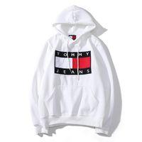 ingrosso maglione bandiera delle donne-Kanye West Sweater Mens Designer Hoodies Donna grande bandiera Jeans Felpa Maglione Harajuku Street Lettere hip-hop Stampato Cappotto