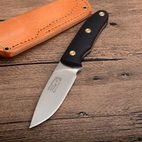 cuchillas de hoja fija de alta calidad al por mayor-Cuchillo recto de supervivencia de alta calidad D2 Punto de caída Hoja de satén Full Tang G10 Mango Exterior Caza pequeña Cuchillos de hoja fija