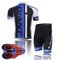 conjunto de uniforme de equipo al por mayor-GIGANTE equipo ciclismo Mangas cortas jersey babero pantalones cortos conjuntos MTB Ropa Ciclismo mens Maillot Culotte 9D gel pad 011111F