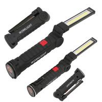 dobra da lâmpada venda por atacado-ilumina dobrar LED COB Luz de trabalho portátil Spotlight recarregável Magnetic Lanterna Tocha Lanterna de Emergência Repair lâmpada de Inspeção
