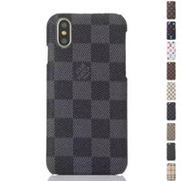 iphone rückseitige abdeckung transparent großhandel-Luxus mode pu leder designer phone cases für iphone x xs max xr 6 s 6 7 8 plus schützen shell handy case back cover