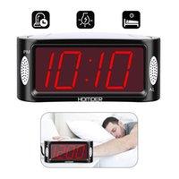 nível digital venda por atacado-Digital LED Alarm Clock Com Dimmer E Snooze 2 Nível de alarme de volume opcional Snooze Digit cabeceira Clocks desktop A24