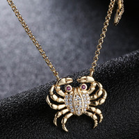 Wholesale mini crab for sale - Group buy European and American fashion new necklace female temperament with mini sea crab starfish clavicle chain jewelry and retail
