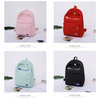 Wholesale travel backpacks for sale - 4styles letter printed kids backpack bag outdoor travel sport backpack student fashion candy color backpack rucksack FFA1963