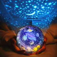 Wholesale Starry Sky Earth Rotate Projector LED Night Lights USB AA Battery Powered LED Night Lamp Novelty Baby Light for Christmas Gifts