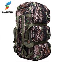 Wholesale canvas backpack military resale online - Hot Top Quality L Large Capacity Outdoor Military travel bags oxford canvas backpack camouflage duffel bag waterproof backpack T190922
