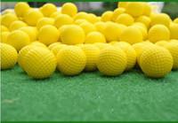 ingrosso palline da golf giocattolo-New Golf PU Ball Sponge Ball Poliuretano Balls Foam Ball Indoor Rapctice PracticeBall Toy-Ball Vari colori