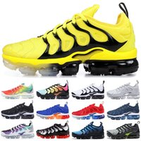 Wholesale shoes grape resale online - Bumblebee TN Plus Designer Sneakers Men Women New Rainbow Grape Photo Blue Grape Tropical Sunset Sport Running Shoes