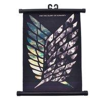 ingrosso tela di pittura moderna giapponese-Attacco anime giapponese su Titan Wings of Liberty Canvas Impermeabile pittura per scorrimento Home Bar Cafe Wall Modern Art Decor Poster