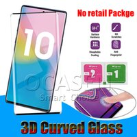 Wholesale 3d glossy case online – custom Case Friendly D Curved Tempered Glass For Samsung Galaxy S8 S9 S10 Plus Note S7 Edge Huawei P30 Pro
