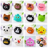 Wholesale designer jelly candy bag for sale - Group buy Mini Cartoon Key Wallet Bag Women Silicone Coin Purse Candy Color Lovely Animals Jelly Change New Coin Bag Party Gifts RRA2759