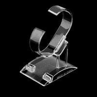 saat severler için hediye toptan satış-Moda Akrilik İzle Tutucu Raf Takı Organizatör göster Hediye Wach For Lovers Gösterilen Standı Tutucu Packaging görüntüler