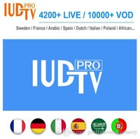 Wholesale apk tv android resale online - 1 Year IUDTV PRO Sweden Subscription Code Swedish Arabic French Spanish M3U APK For Android TV Box