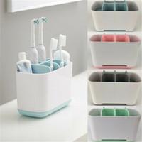boîte à dentifrice achat en gros de-Support de dentifrice de salle de bains de stockage de brosse à dents électrique simple