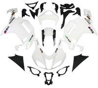 kit de cuerpo blanco kawasaki zx6r al por mayor-4 regalos gratis Nuevos ABS motocicleta carenados kit de ajuste para Kawasaki Ninja ZX6R ZX6R 2007 2008 07 08 6R conjunto del cuerpo blanco de encargo FEI