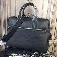 ingrosso cinghie da cartella-La nuova borsa da uomo 2018 di stile, la borsa da uomo in pelle con cerniera. Con una tracolla regolabile staccabile, può essere inclinata su una spalla