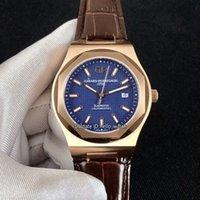 qualität gps uhr großhandel-Begrenzte neue Girard-Perregaux GP Laureato 81005-52-432-BB6A blaues Zifferblatt Miyota automatische Herrenuhr Rotgold Gehäuse Leder hochwertige Uhren