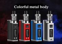 Wholesale hookah mod pen resale online - New w liquid electronic cigarette led vaporizer ml mah w e cigarettes vape pen box mod kit hookah vape