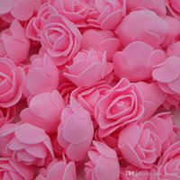 Wholesale handmade craft displays resale online - PE Foam Rose Flowers Artificial Craft PE Foam Rose Flowers Handmade DIY Wedding Home Decoration Festive Party Supplies