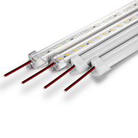 ingrosso striscia in lega di alluminio-La luce di striscia dura dura luminosa di CC12V 100cm 72led SMD 7020 di alluminio ha condotto la luce di striscia per l'esposizione dei gioielli del Governo