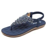 ingrosso scarpe di zinco-5881 Strong Zinc 2019 New Summer Sandali nazionali Flower Bohemian Foreign Trade Large Size Shoes