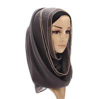 Wholesale thin hijab scarves for sale - Group buy 70 cm malaysia women muslim hijab scarf femme musulman soft cotton thin headscarf islamic hijab shawls wraps turkish scarves