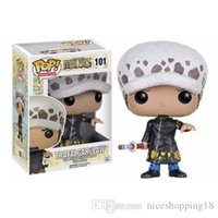 Wholesale one piece law toys online - Funko POP Anime One Piece TRAFALGAR LAW Vinyl Action Figure With Box t167 Popular Toy Gift