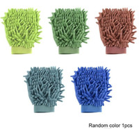 Wholesale glove resale online - Car Cleaning Glove Microfiber Mitt Car wash mitt noodle Microfiber Wash Gloves car cleaning Microfiber mitt with free polishin