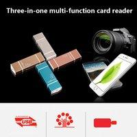 lecteur de carte iphone sd achat en gros de-Microsd Tf Usb2.0 Microusb-ray Oth Lecteur de carte mémoire Design universel Ipad Iphone Téléphone Android Pc