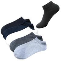 meias do projeto dos homens venda por atacado-Meias por atacado do tornozelo das mulheres dos homens curto barco marca design cor sólida curto meia casual cutton mistura confortável adolescente meias