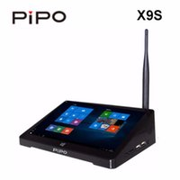 Wholesale mini pc android tv box 4.4 resale online - PIPO X9S Mini PC inch Smart TV BOX Dual OS Windows Android Intel Z8350 Quad Core G GB ROM HDD Player in Stock