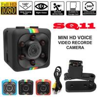 spy camera оптовых-SQ11 Full HD 1080P Мини-автомобиль Скрытая DV DVR камера Spy Dash Cam ИК ночного видения