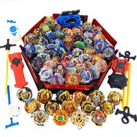 Wholesale beyblade metal toy sets resale online - Tops Launchers Beyblade Set Toys With Starter and Arena Bayblade Metal Burst God Bey Blade Blades Toys Y200703