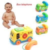 телефонная шина оптовых-2019 Baby Toys Music Cartoon Bus Phone Educational Developmental Kids Toy Gift New Christmas Gifts Drop Shipping YE11.28