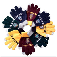 Wholesale cosplay gryffindor for sale - Group buy Harry Cosplay Potter College Gloves Gryffindor Slytherin Ravenclaw Hufflepuff Gloves Badge Warm Glove Cartoon Halloween Gift MMA1169