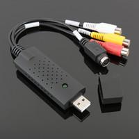 захват карты оптовых-USB 2.0 Видео Аудио Захват Адаптер устройства VHS Видеомагнитофон Поддержка ТВ-DVD конвертер Win Xp / Vista / 7/8/10