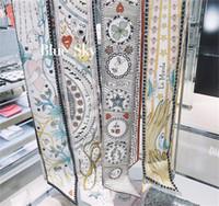 pequeñas bufandas al por mayor-Tarot Series Doble cubierta Impresión a doble cara Twill Small Bind Bag Mango Imitar Seda Bufanda Cinta para el cabello Banda para el cabello Mujer Bufandas Hijab