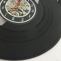 Wholesale bar clocks home for sale - Group buy Nail Art Salon Vinyl Record Wall Clock quot cm Manicure Shop Decor Wall Art Cafe Bar Room Home Decor