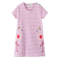 4ee64c498848 2019 New Fashion Baby Girl Dress Animals Holiday Princess Dress Short  Sleeve Dresses Children Summer Dress Clothing for Kids